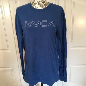 RVCA blue long-sleeved 100% cotton t-shirt M